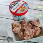 strawberry almond frozen yogurt bites