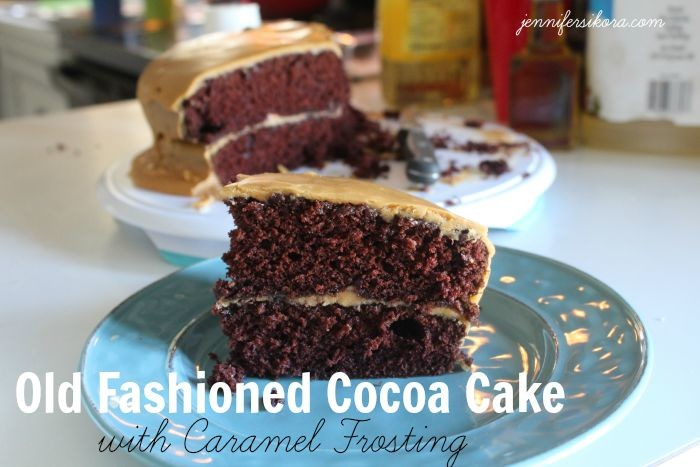 Cocoa Cake caramel Frosting