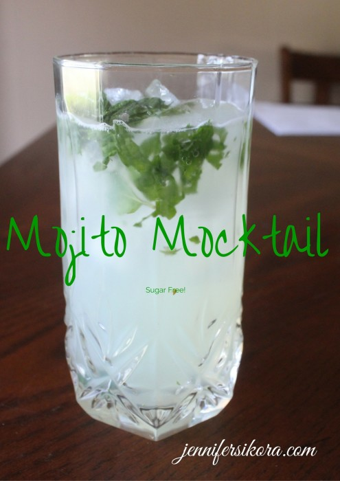 ... Mojito Mocktail that is not only alcohol free, but sugar free too