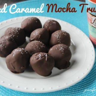 Salted Caramel Mocha Truffles #MochaHop