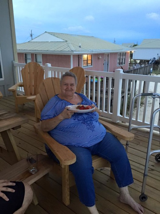 Barefoot Property - the back deck in Gulf Shores