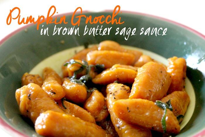 Pumpkin Gnocchi in Brown Butter Sage Sauce - Jen Around the World