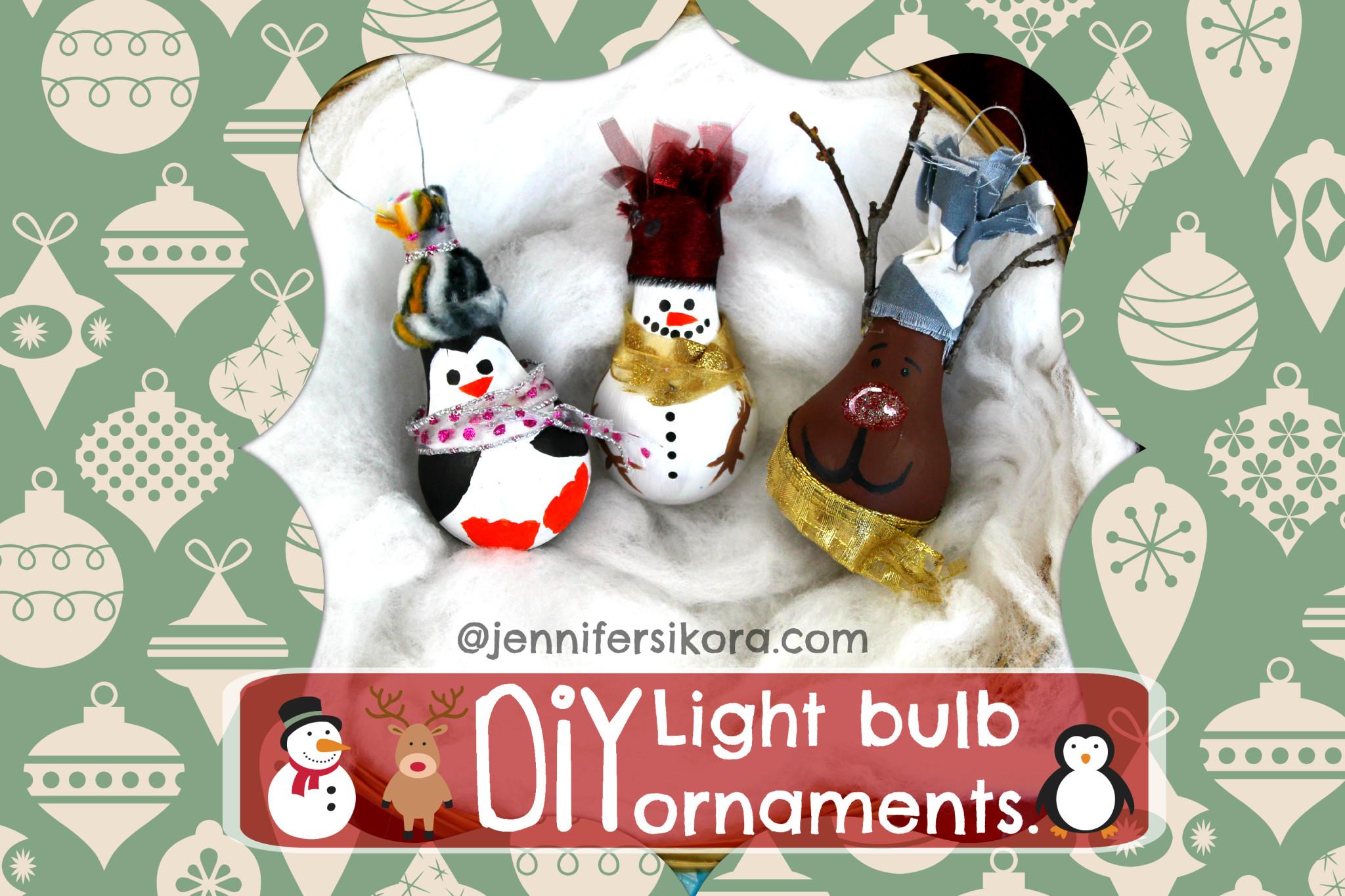 How to Make Light Bulb Christmas Ornaments