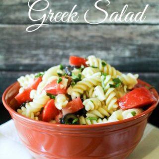 Holiday Greek Pasta Salad