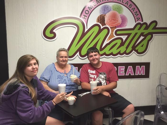 matts homemade ice cream