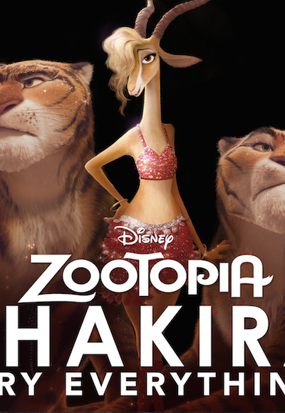 Watch Shakira's New Music Video Try Everything – An Original Song from Zootopia