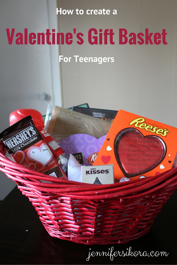 How to create a valentines gift basket for teenagers jen around how to create a valentines gift basket for teens negle Image collections