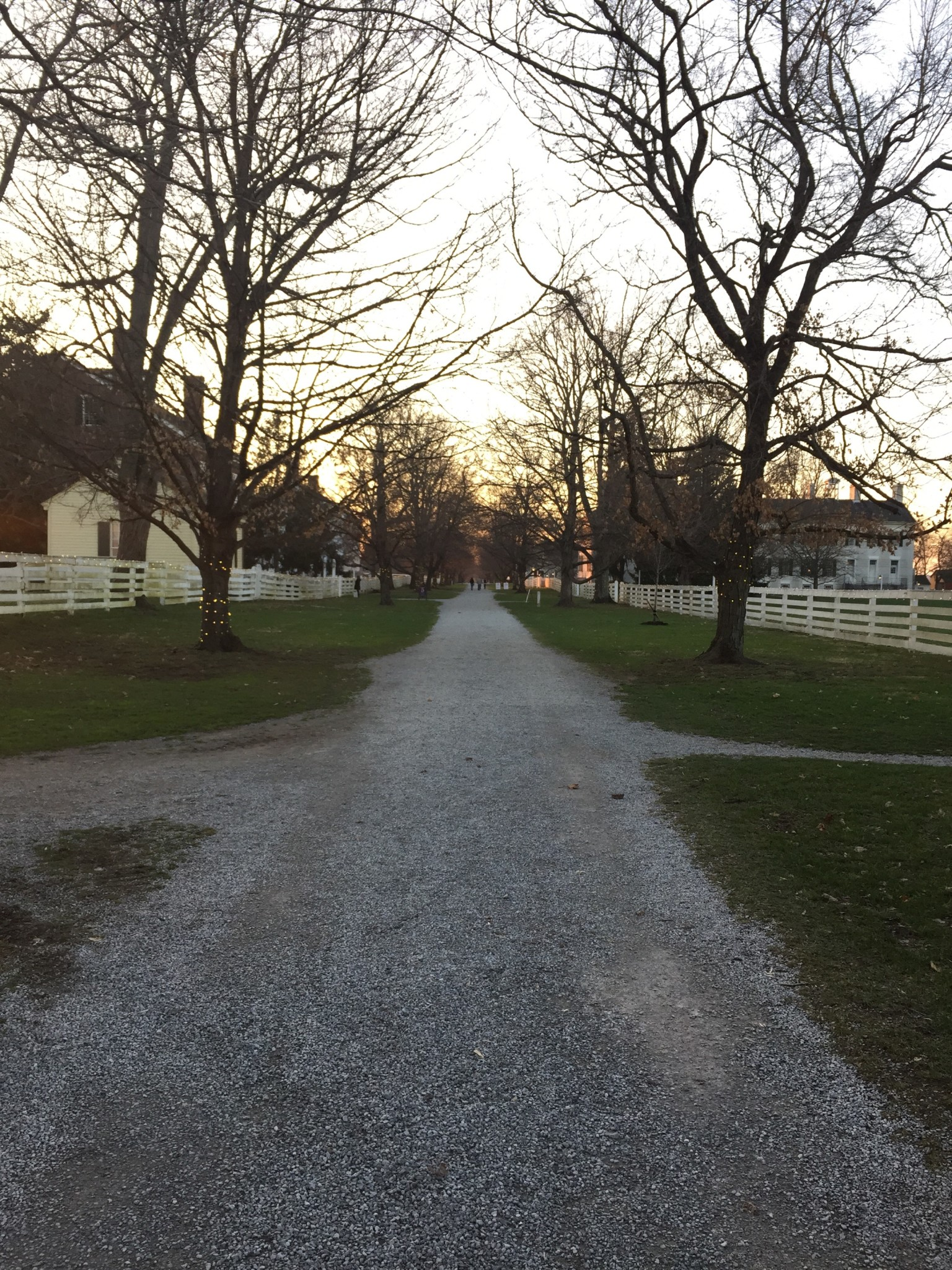 Path to the Trustees Building at Shakertown