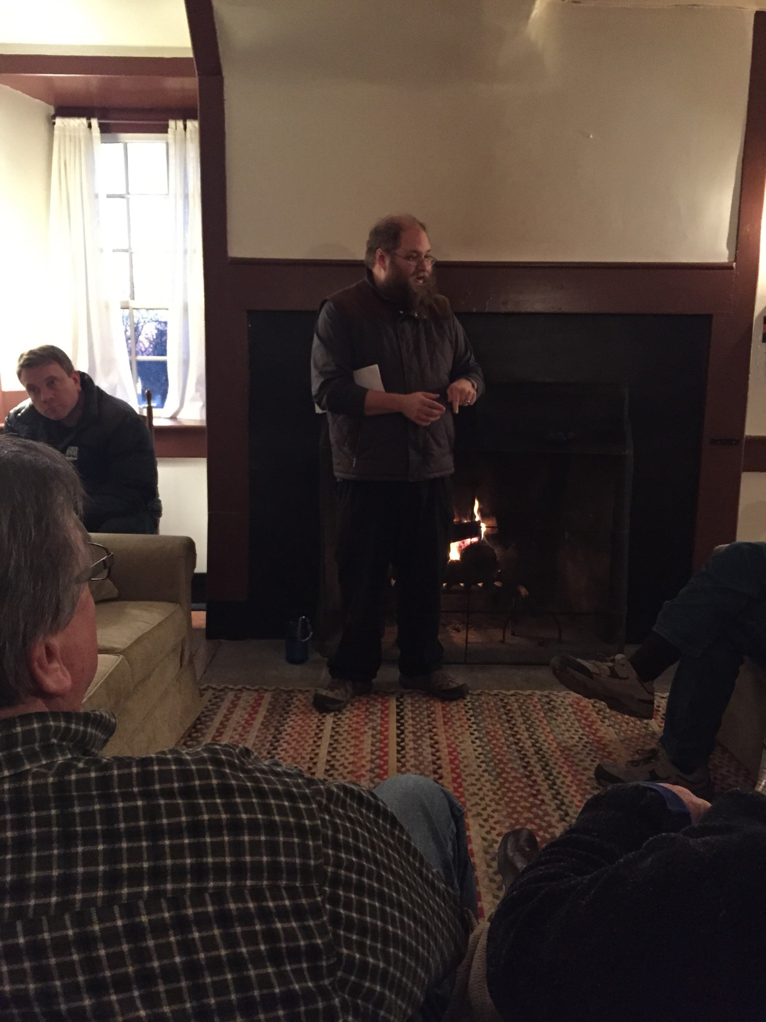 Fireside chat with Johnathan at Shakertown