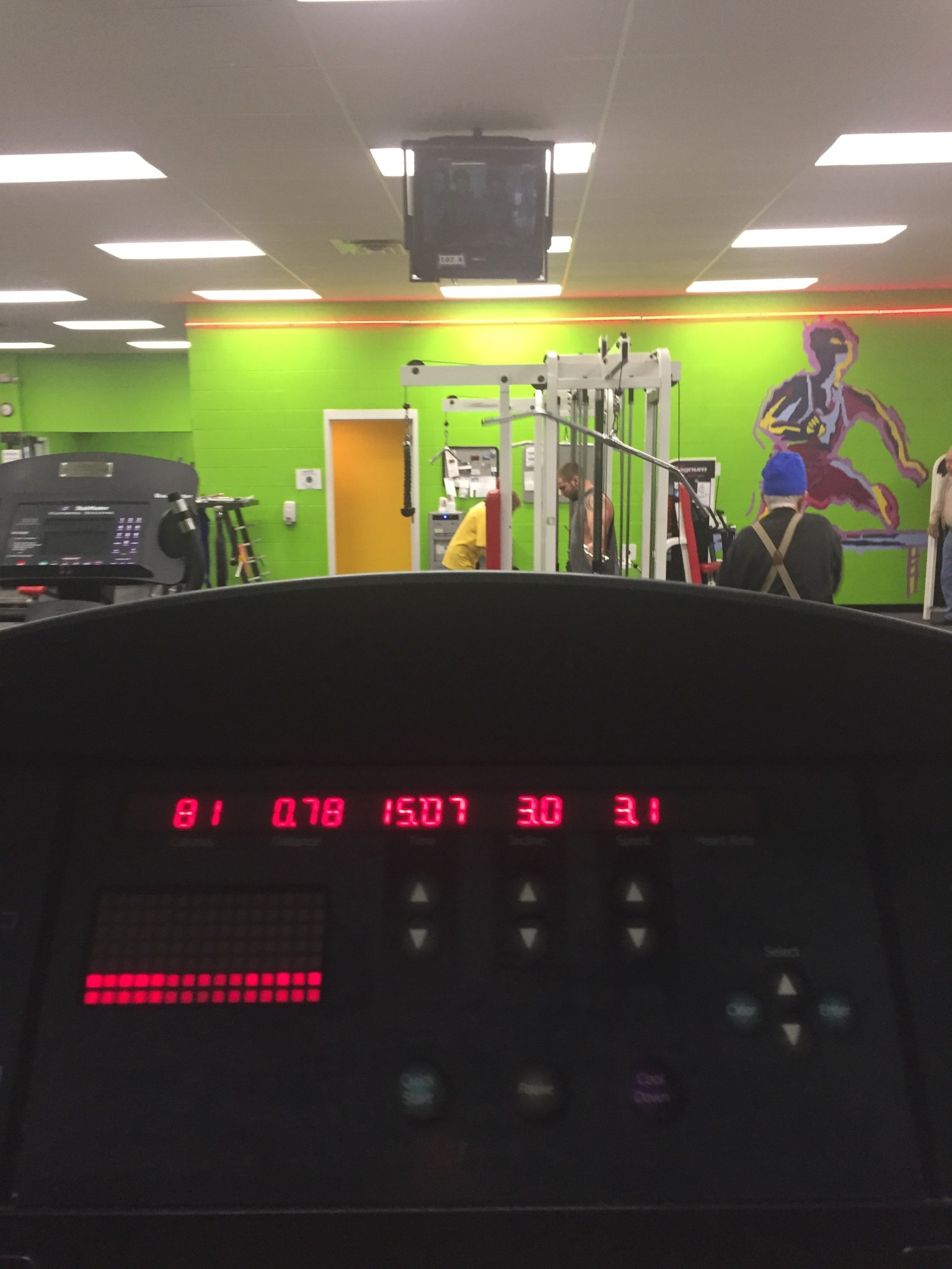 breaking it in at the gym