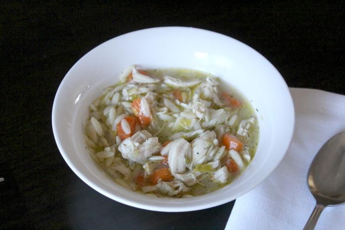 Lemony Chicken Orzo Soup 2