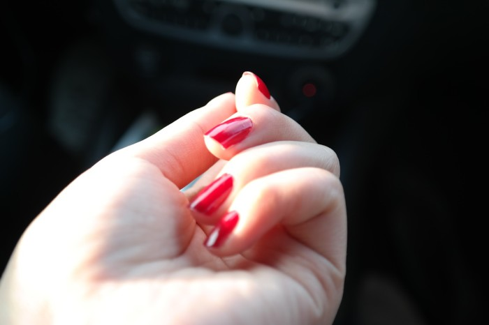 Red nail polish for Valentines