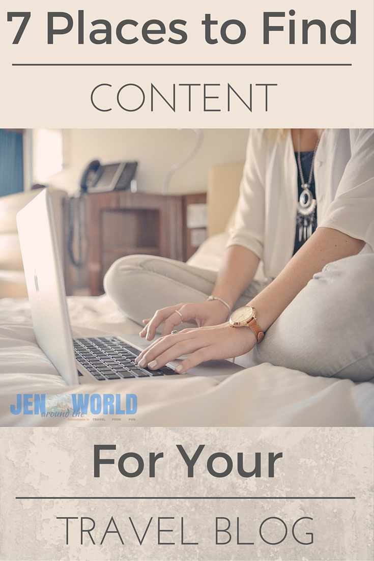 7 places to Find Content for Your Travel Blog