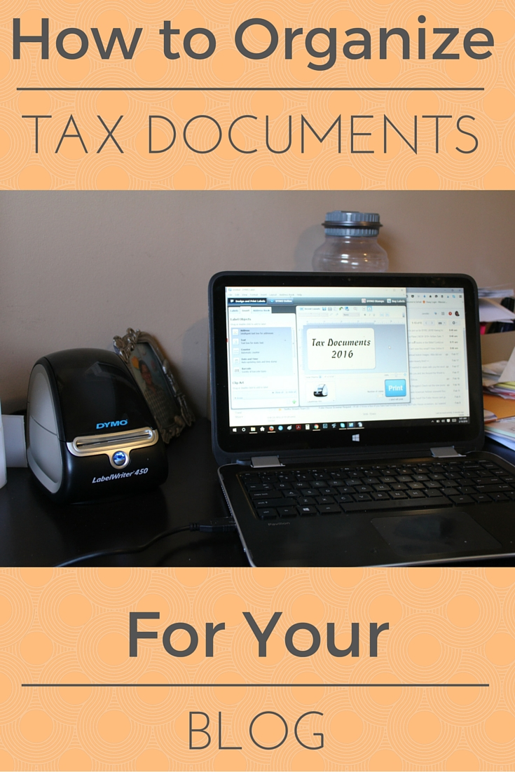 How to Organize Tax Documents for Your Blog
