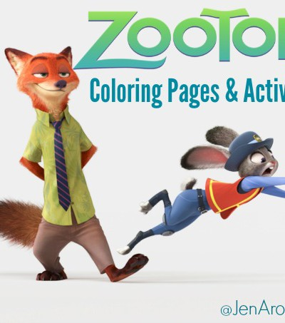 ZOOTOPIA – Coloring Sheets + New Clips Now Available
