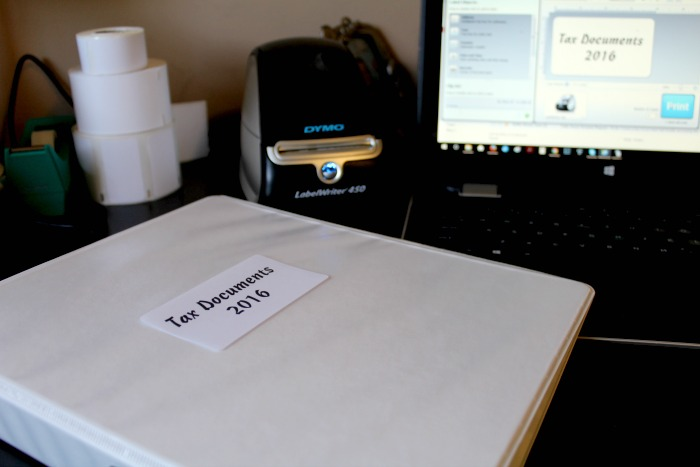 tax documents label writer 450