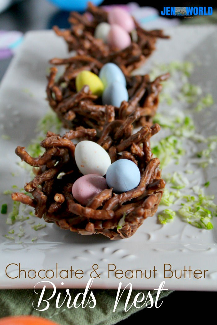 Choclate and Peanut Butter Birds Nest