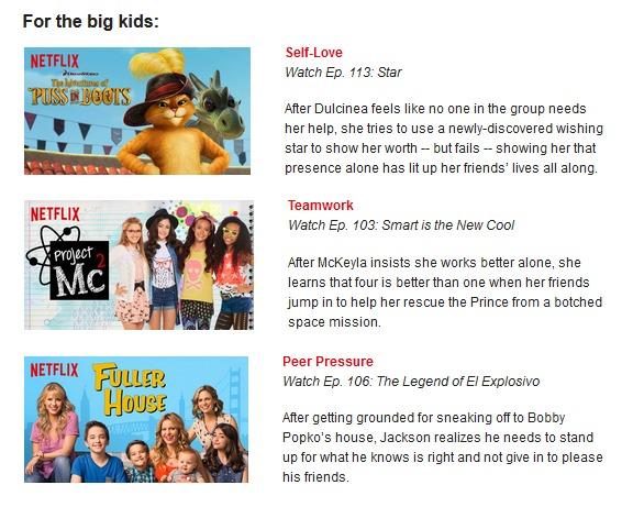 Netflix Big Kids May 2016