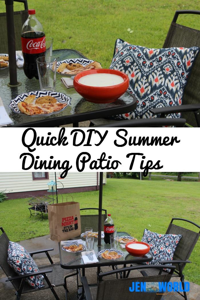 quick diy summer patio tips