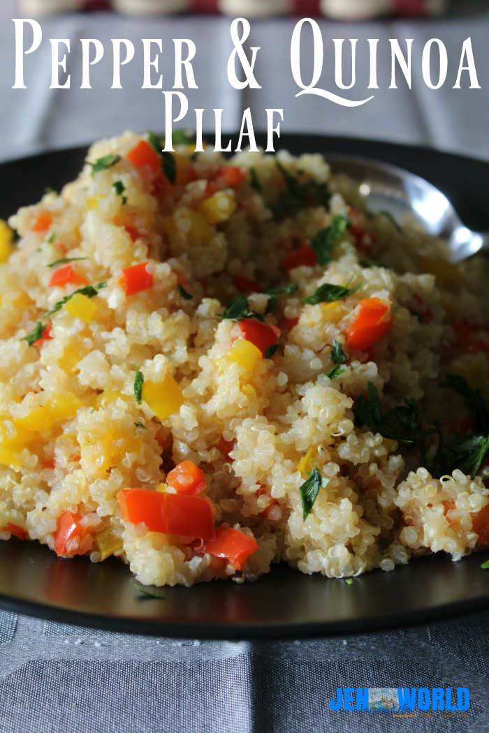 Pepper quinoa pilaf