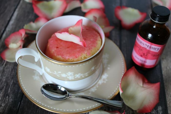 Rose Water Mug Cake Featured 1