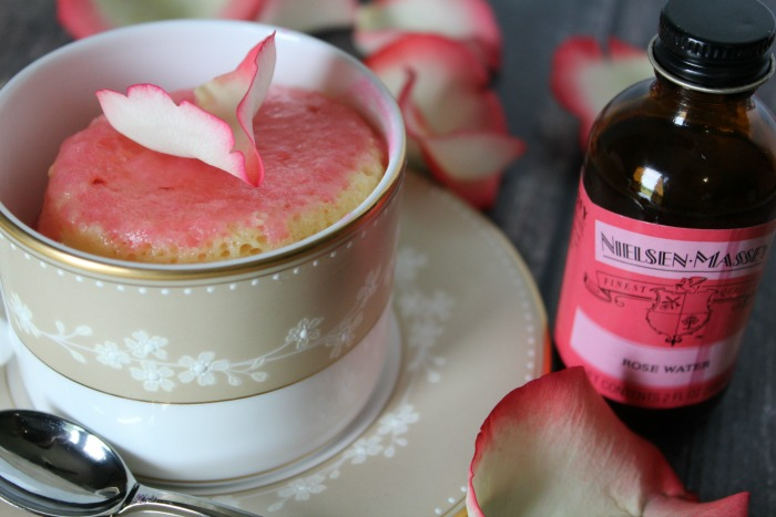 Rose Water Mug Cake Featured
