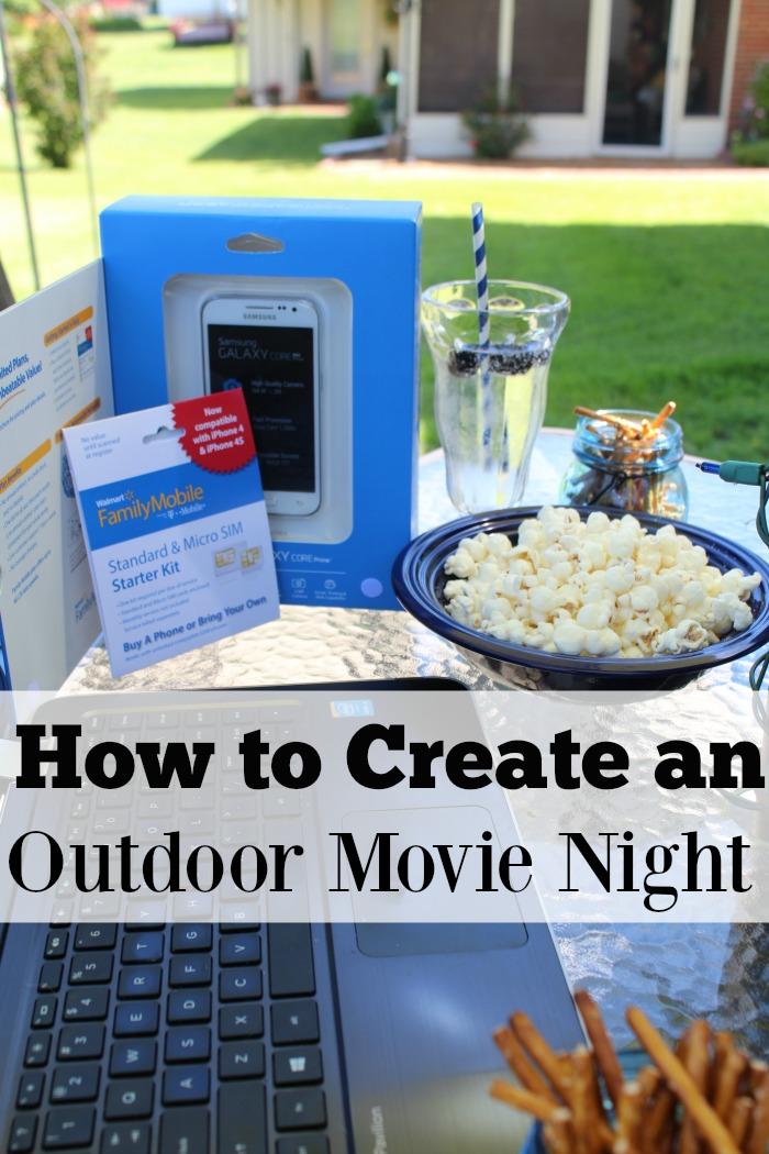 outdoor movie night walmart family mobile
