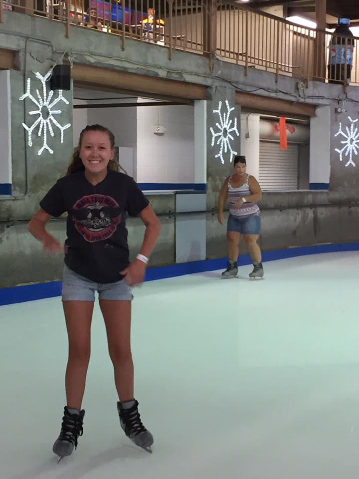 ice skating at ober gatlinburg smoky mountains