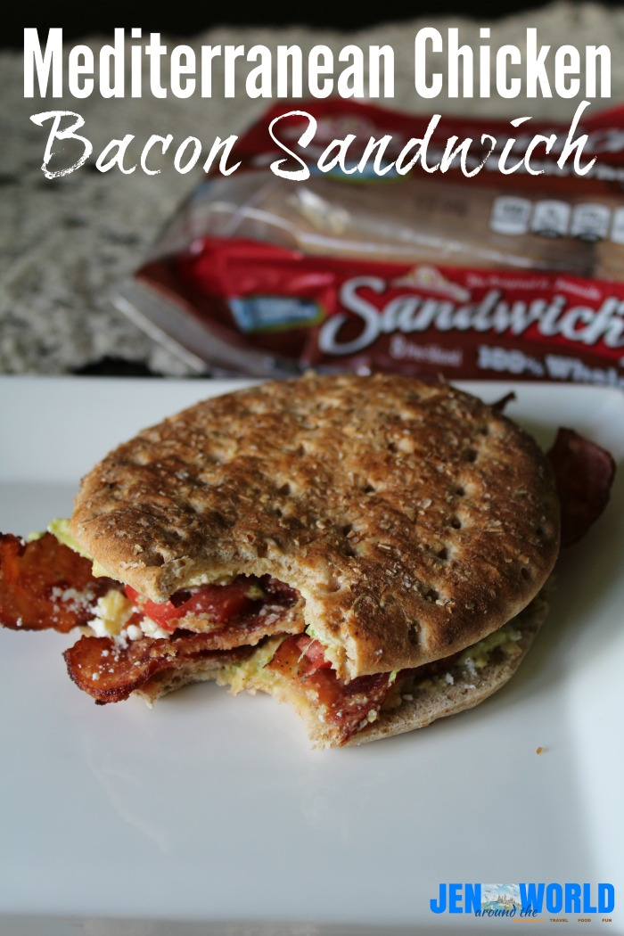 Mediterranean Chicken Bacon Sandwich
