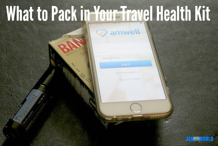what to pack in your travel health kit