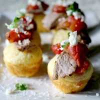 Grilled Steak and Tamale Cornbread Bites