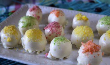 White Chocolate Rainbow Truffles