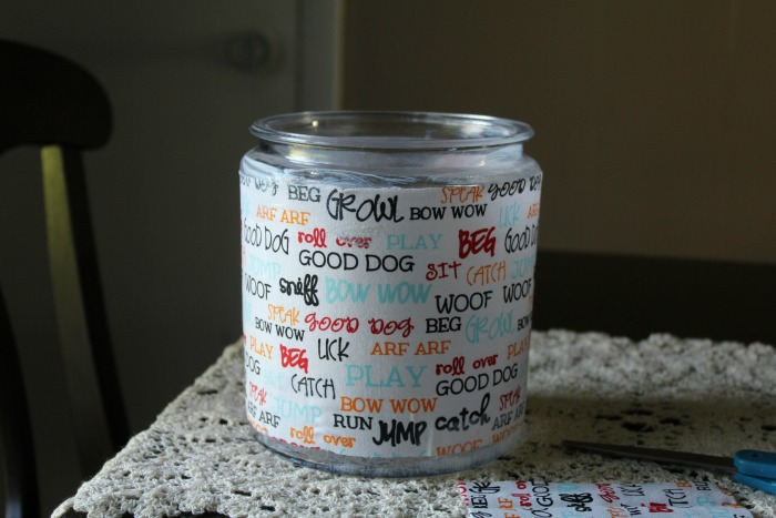 diy dog treat jar step 4