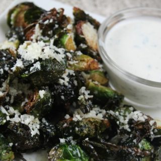 Fried Brussel Sprouts with Lemon Aoli (plus How I Combat Heartburn When Tailgating)