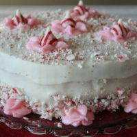 Chocolate Peppermint Holiday Cake