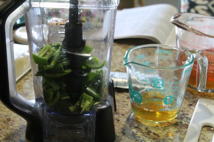 Green Pepper Jelly step 1