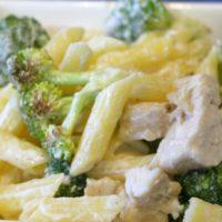 Gluten Free Skinny Chicken Broccoli Alfredo