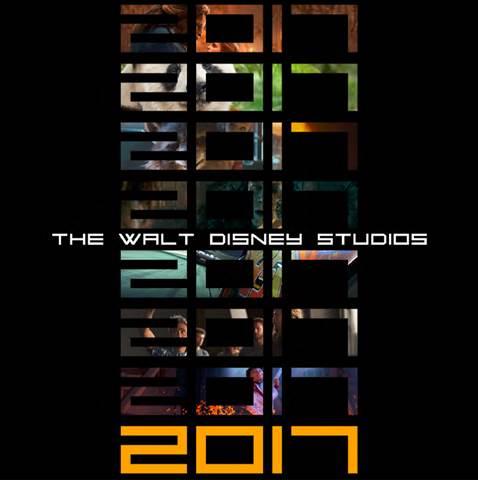 2017 Disney Movies Plate