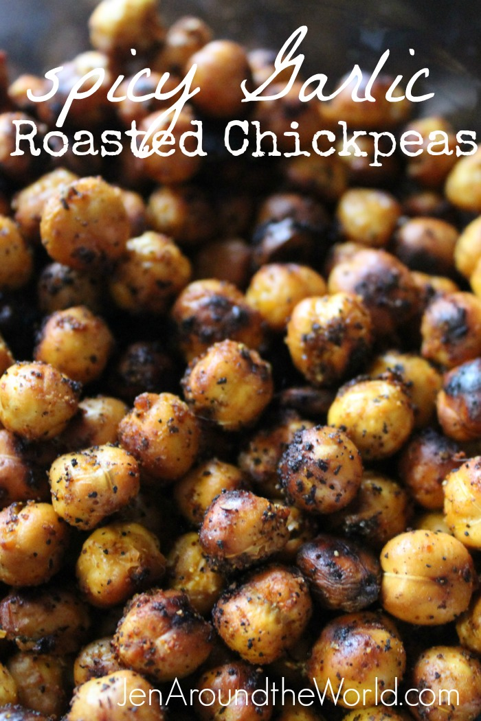 Sdpicy Garlic Roasted Chickpeas