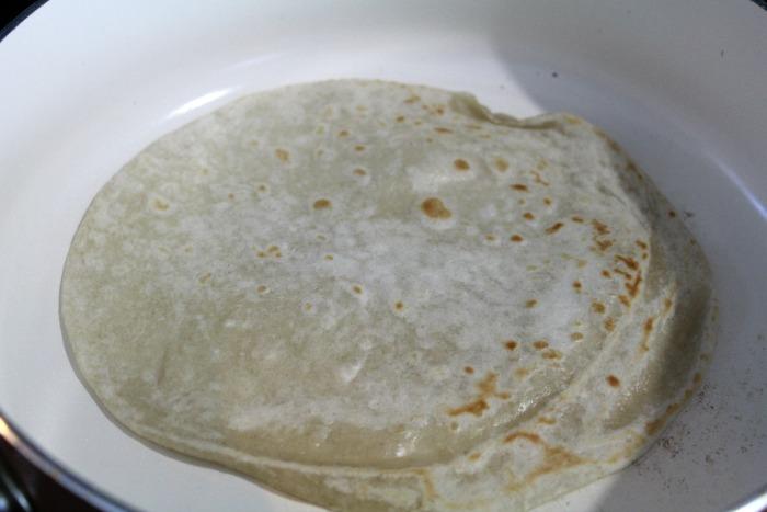 Chicken Caprese Wrap Tortillaland skillet