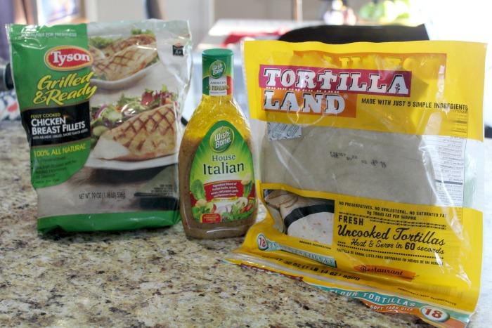 Chicken Caprese Wraps Ingredients