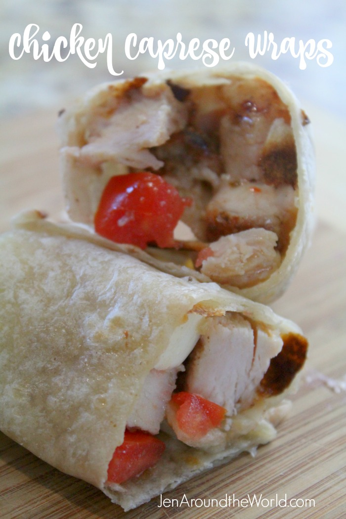 Chicken Caprese Wraps Pin