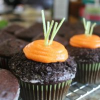 How to Make Carrots in the Dirt Cupcake
