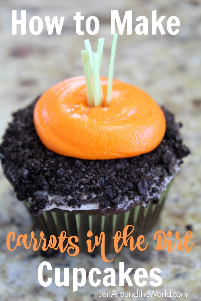 carrots in the dirt cupcakes