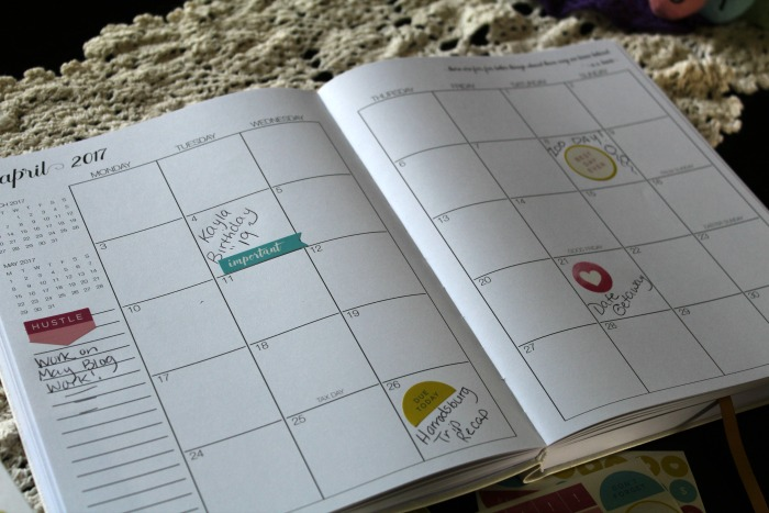 Corie Clark Purposeful Planner month at a glance
