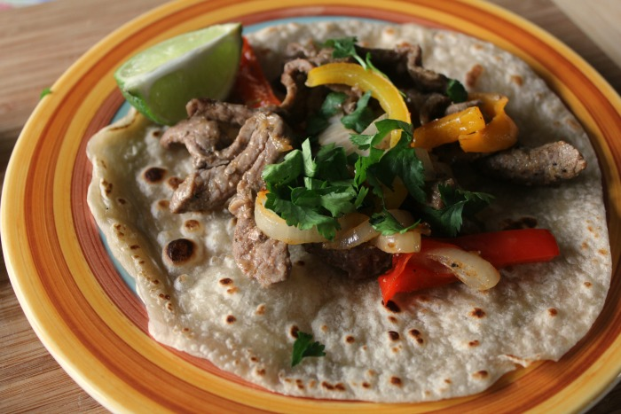 one pan steak fajitas featured