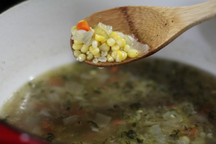 sweet Corn chowder corn shot