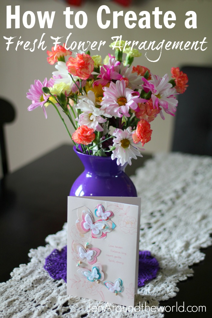 how to create a fresh flower arrangement hallmark hero shot