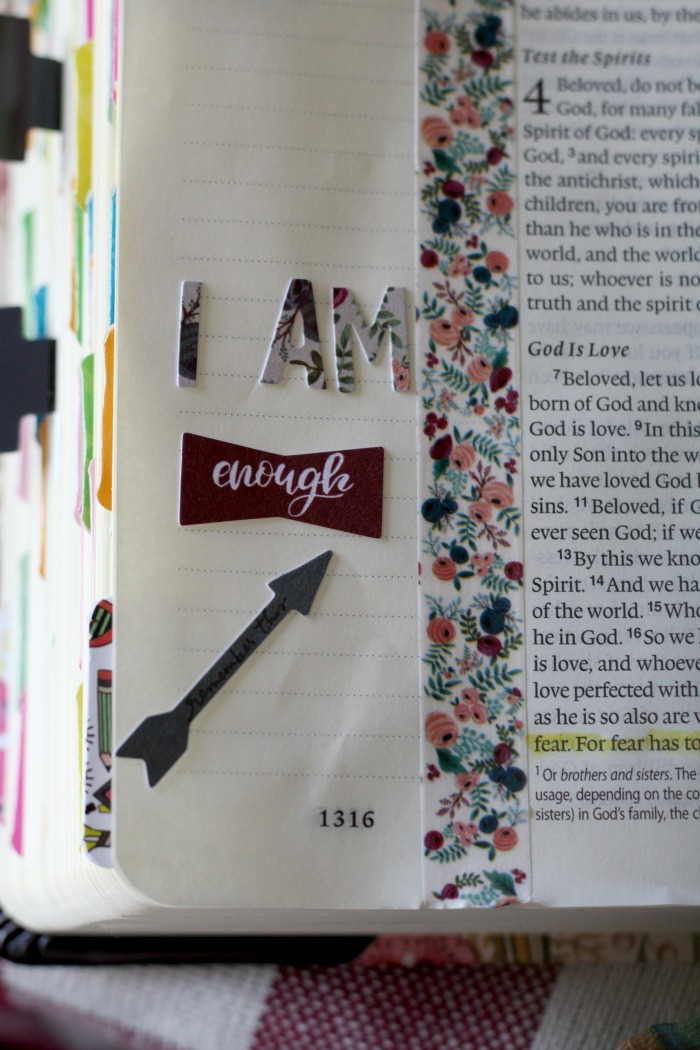 The newest Bible journaling kit from Illustrated Faith is amazing. It's all about I AM this month.