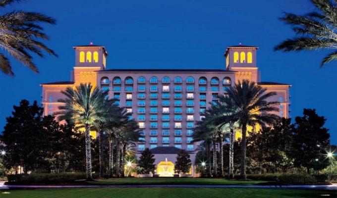 The Beautiful Ritz Carlton Hotel in Orlando Florida